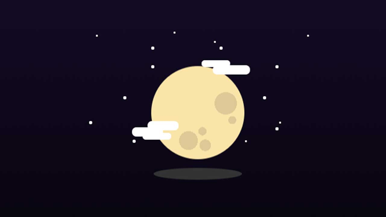 Feature Code: CSS Moon