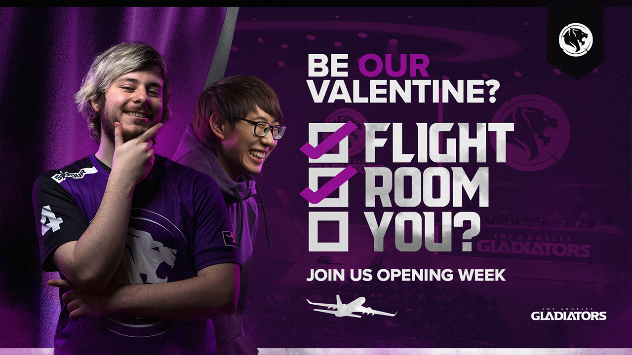 L.A. Gladiators twitter be our valentine promotion